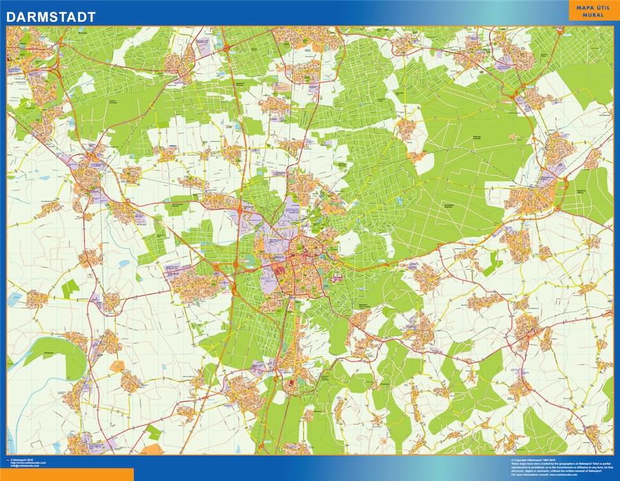 Mapa Darmstadt