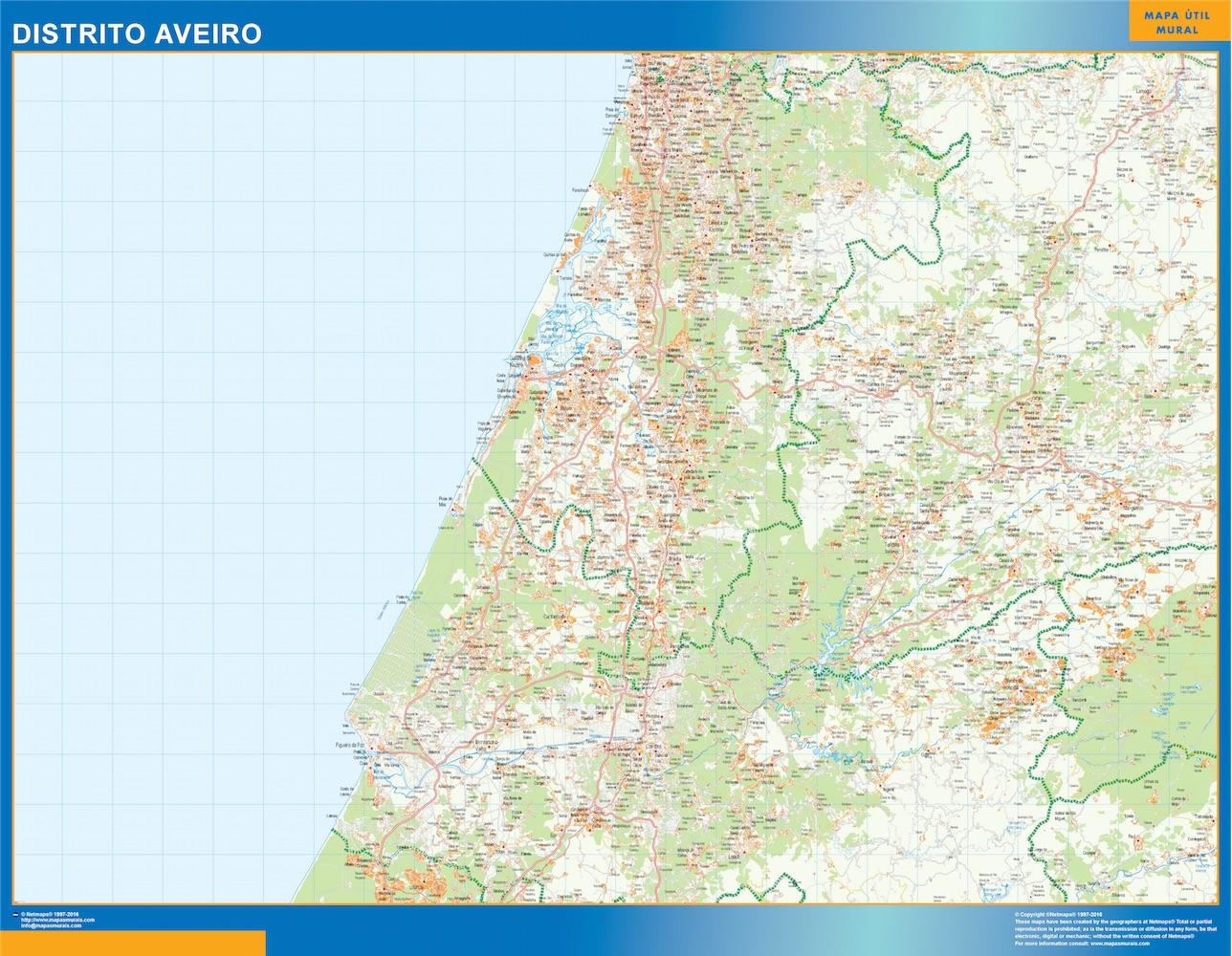 Mapa Distrito Aveiro