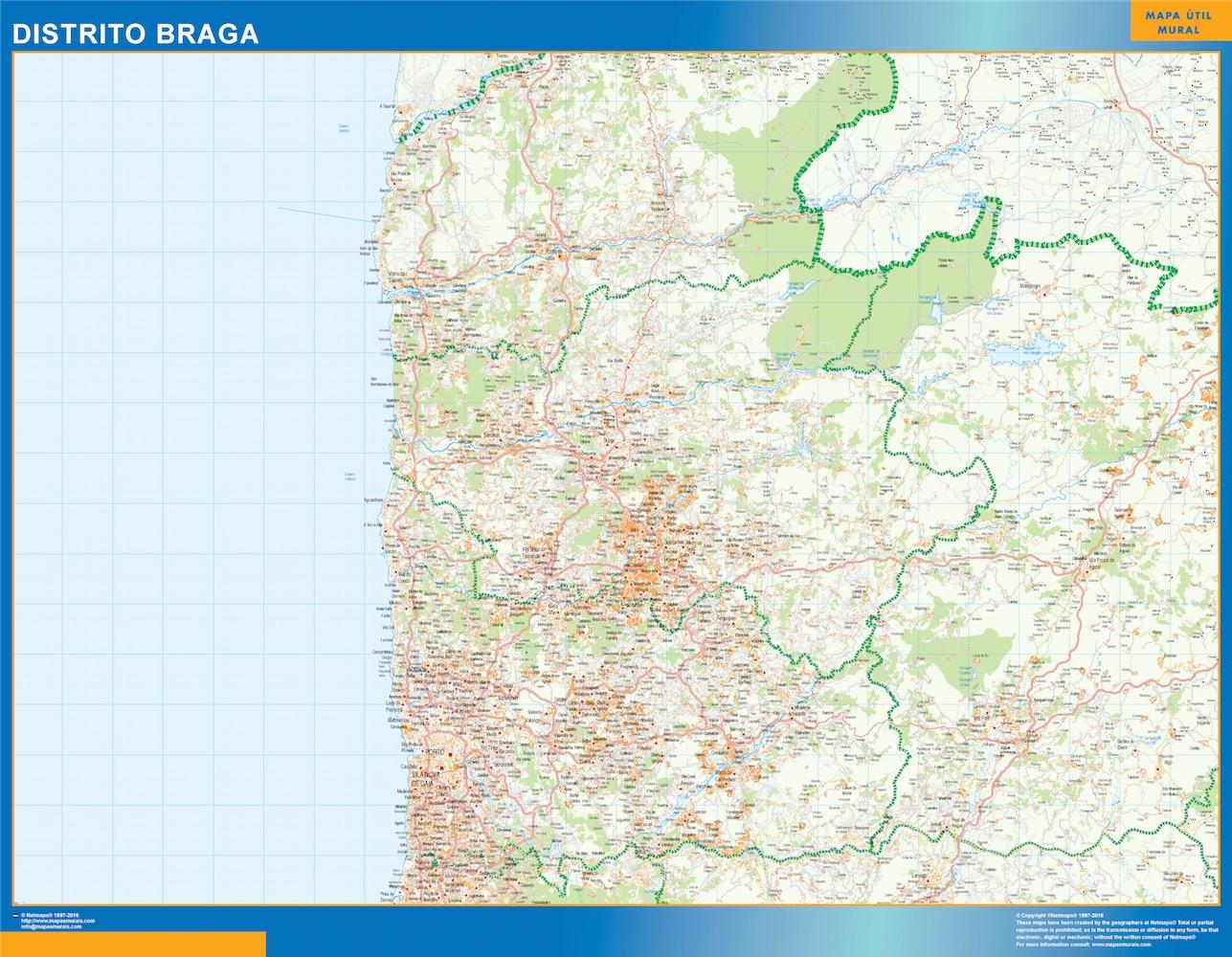 Mapa Distrito Braga
