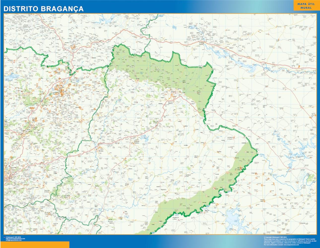 Mapa Distrito Bragança