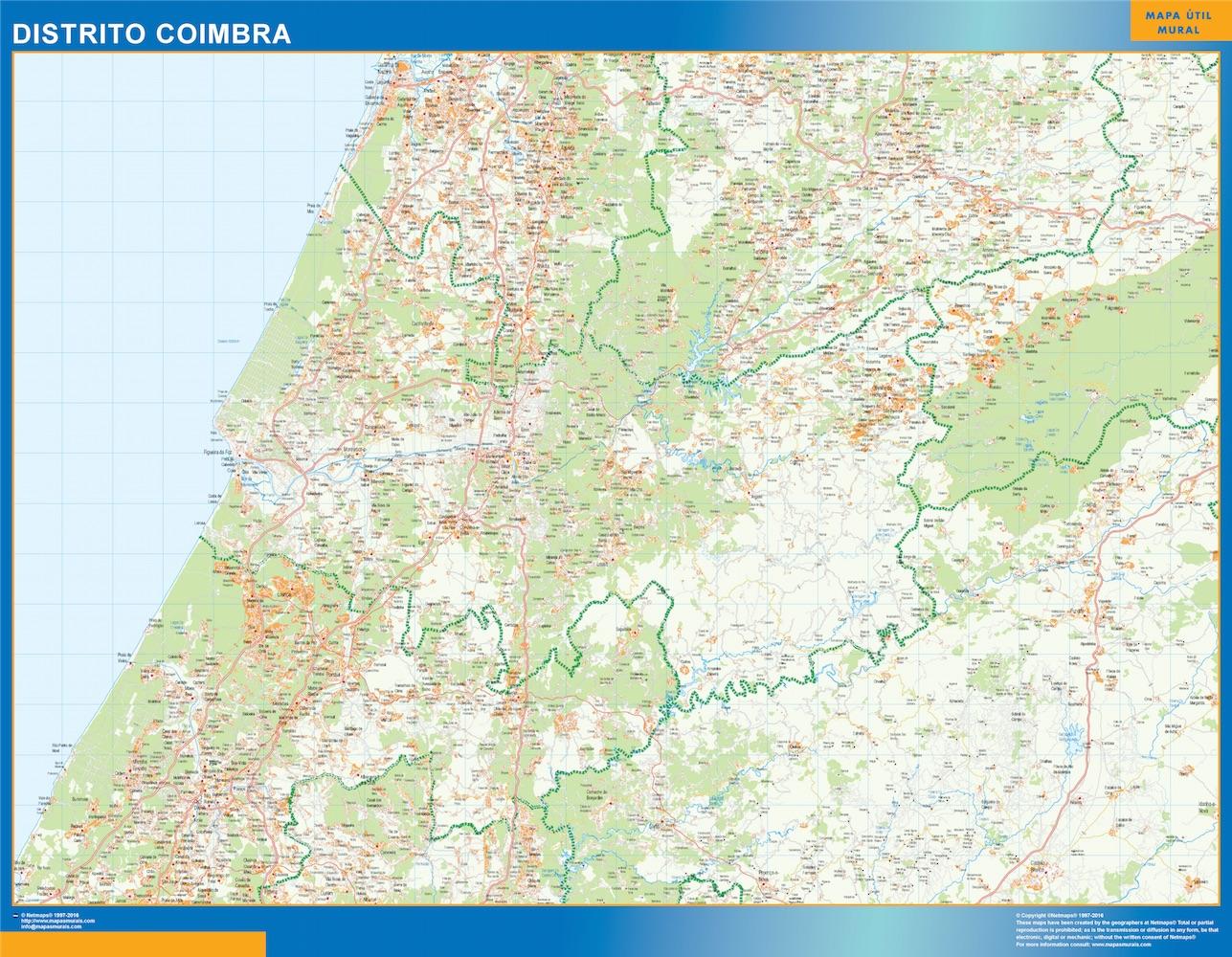 Mapa Distrito Coimbra
