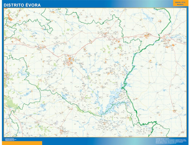 Mapa Distrito Evora