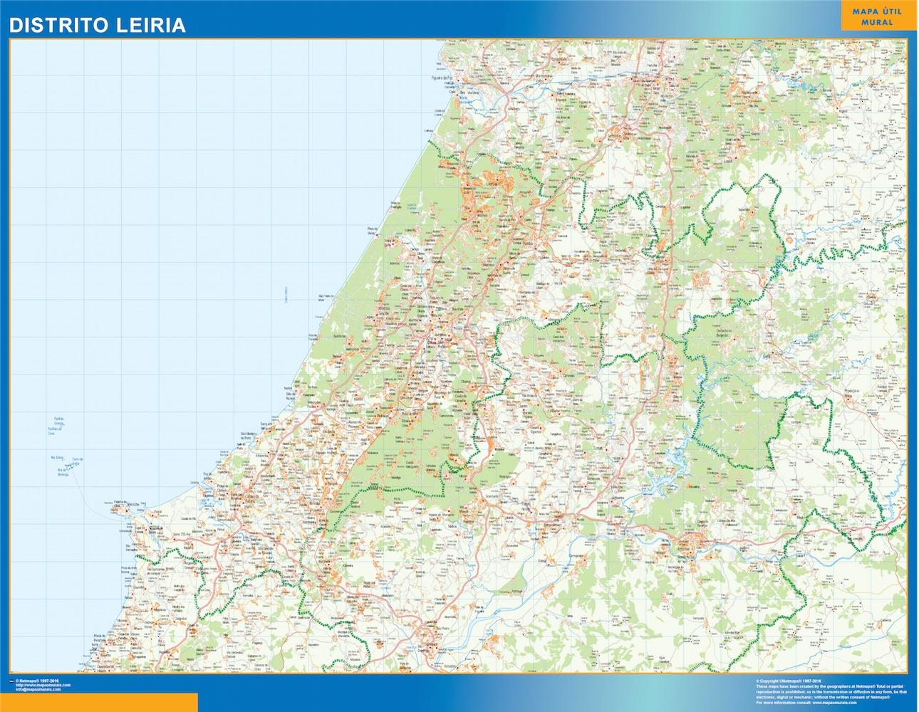 Mapa Distrito Leiria
