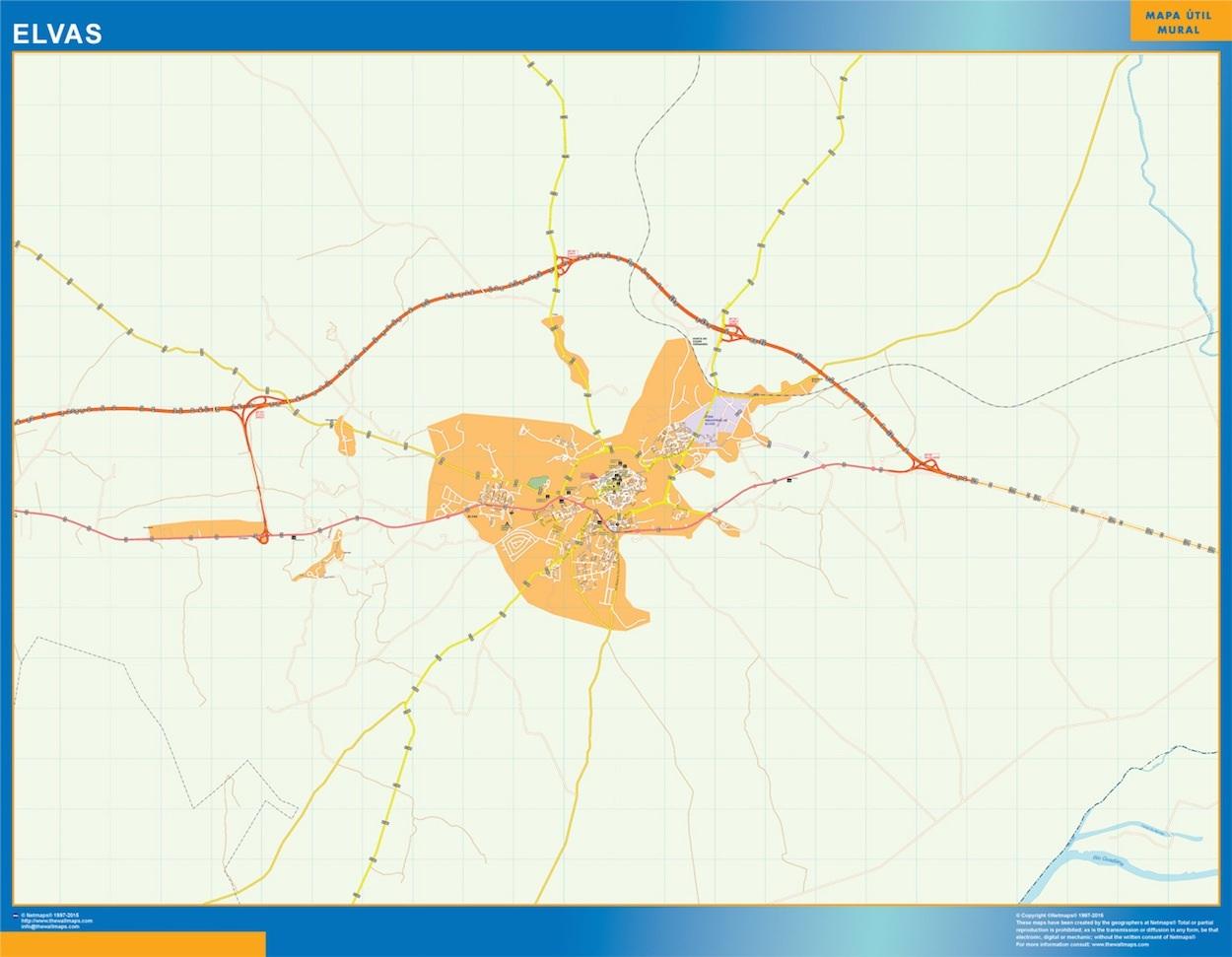 Mapa Elvas