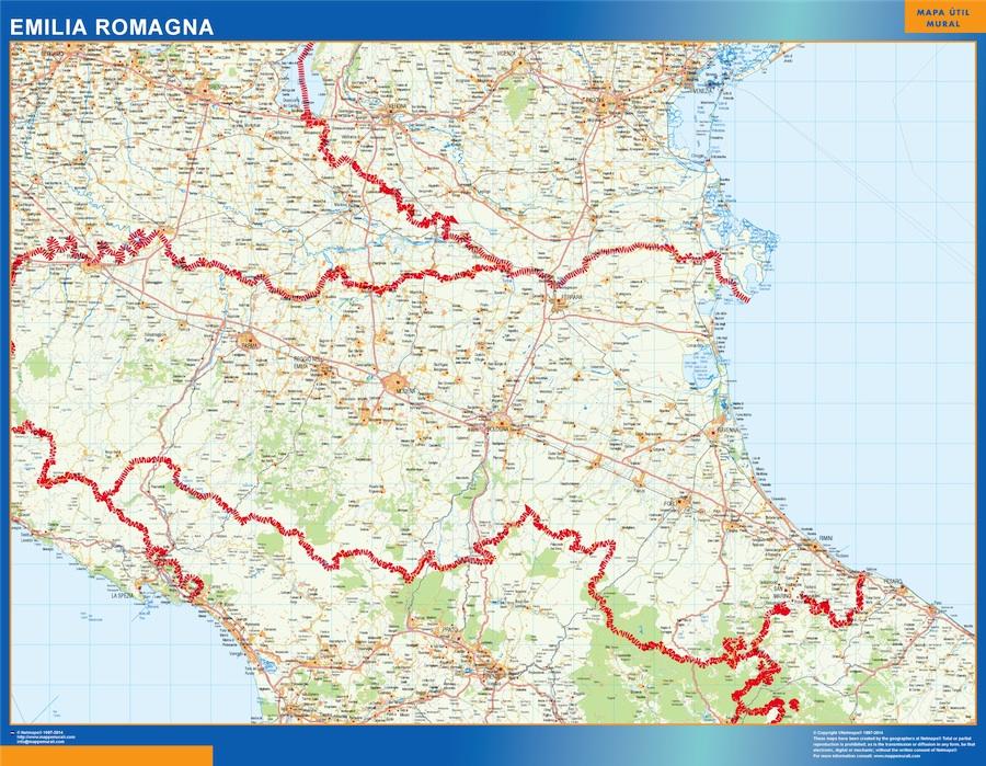 Mapa Emilia Romagna