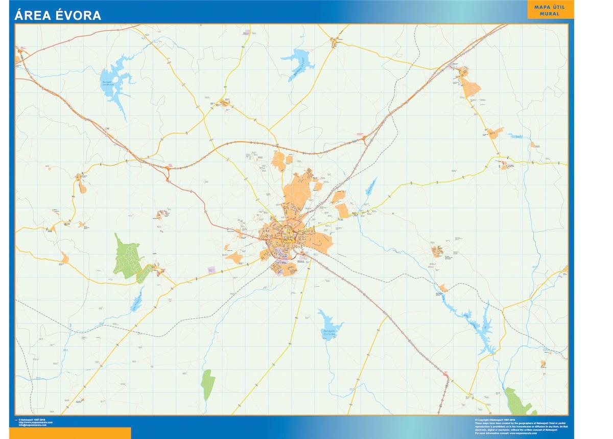Mapa Evora Area