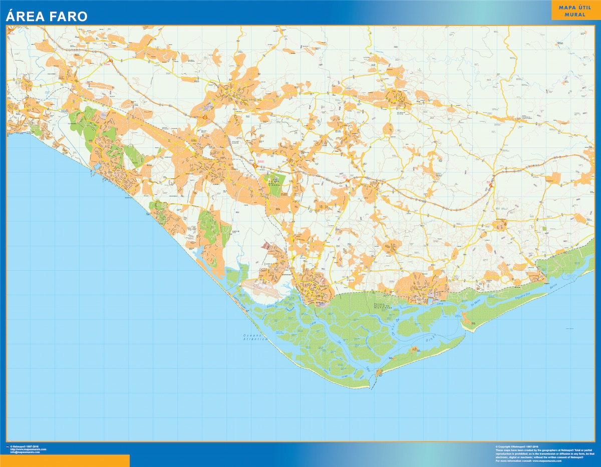 Mapa Faro Area