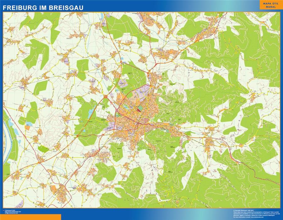 Mapa Freibug Im Breisgau