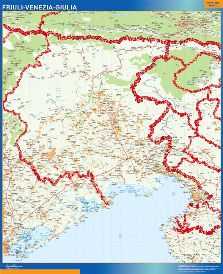 Mapa Friuli Venezia Giulia