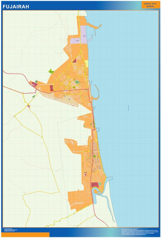 Mapa Fujairah