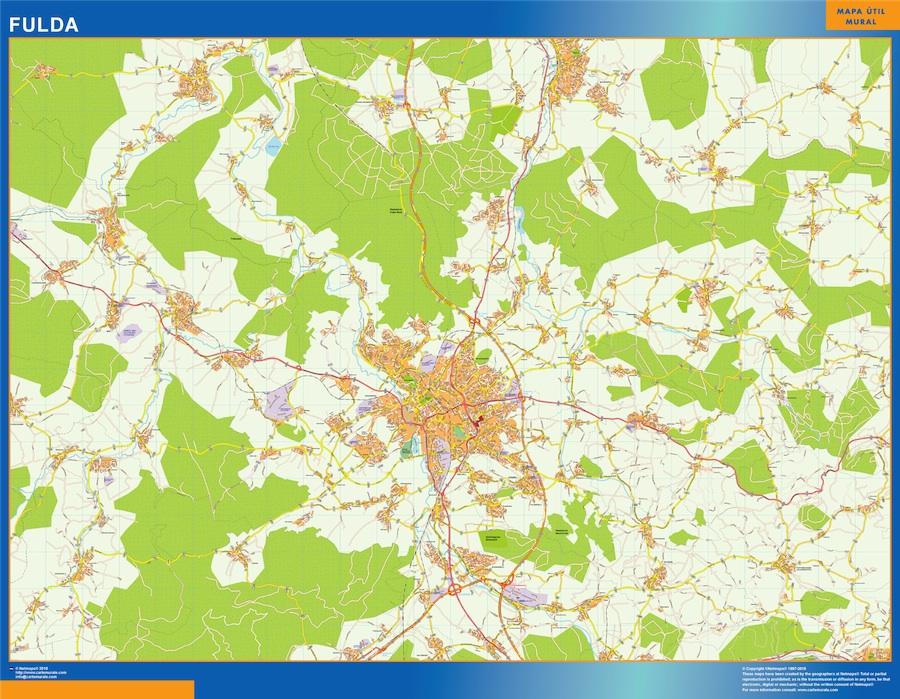 Mapa Fulda