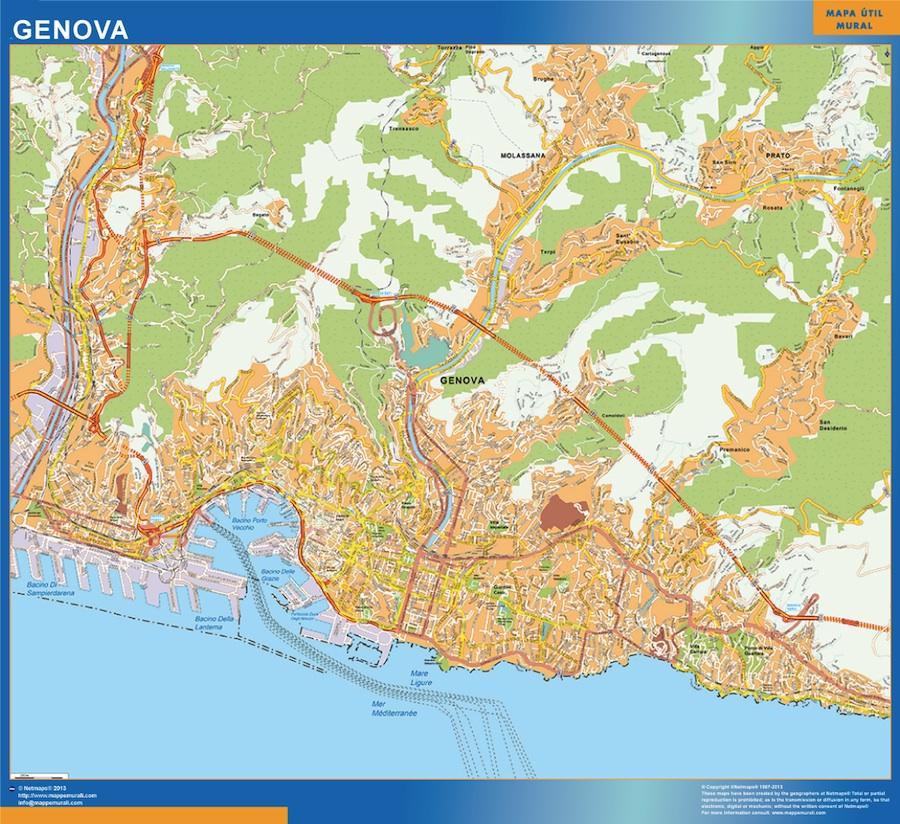 Mapa Genova