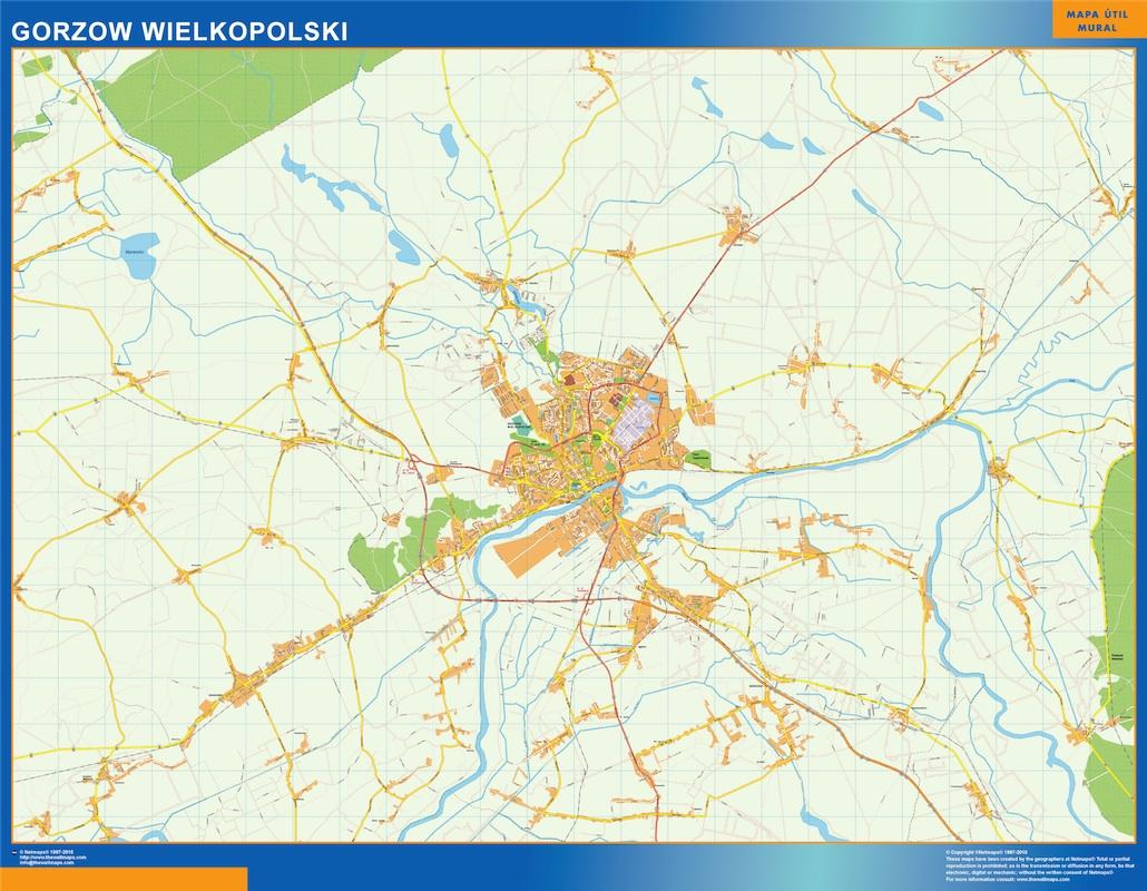 Mapa Gorzow Wielkopolski