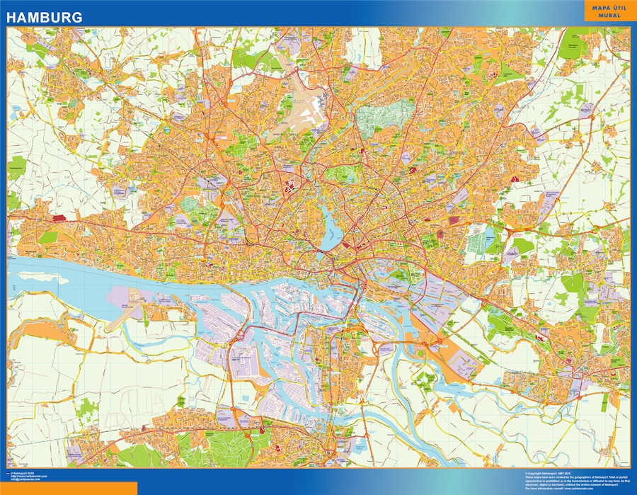 Mapa Hamburgo