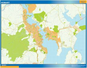 Mapa Hobart Australia