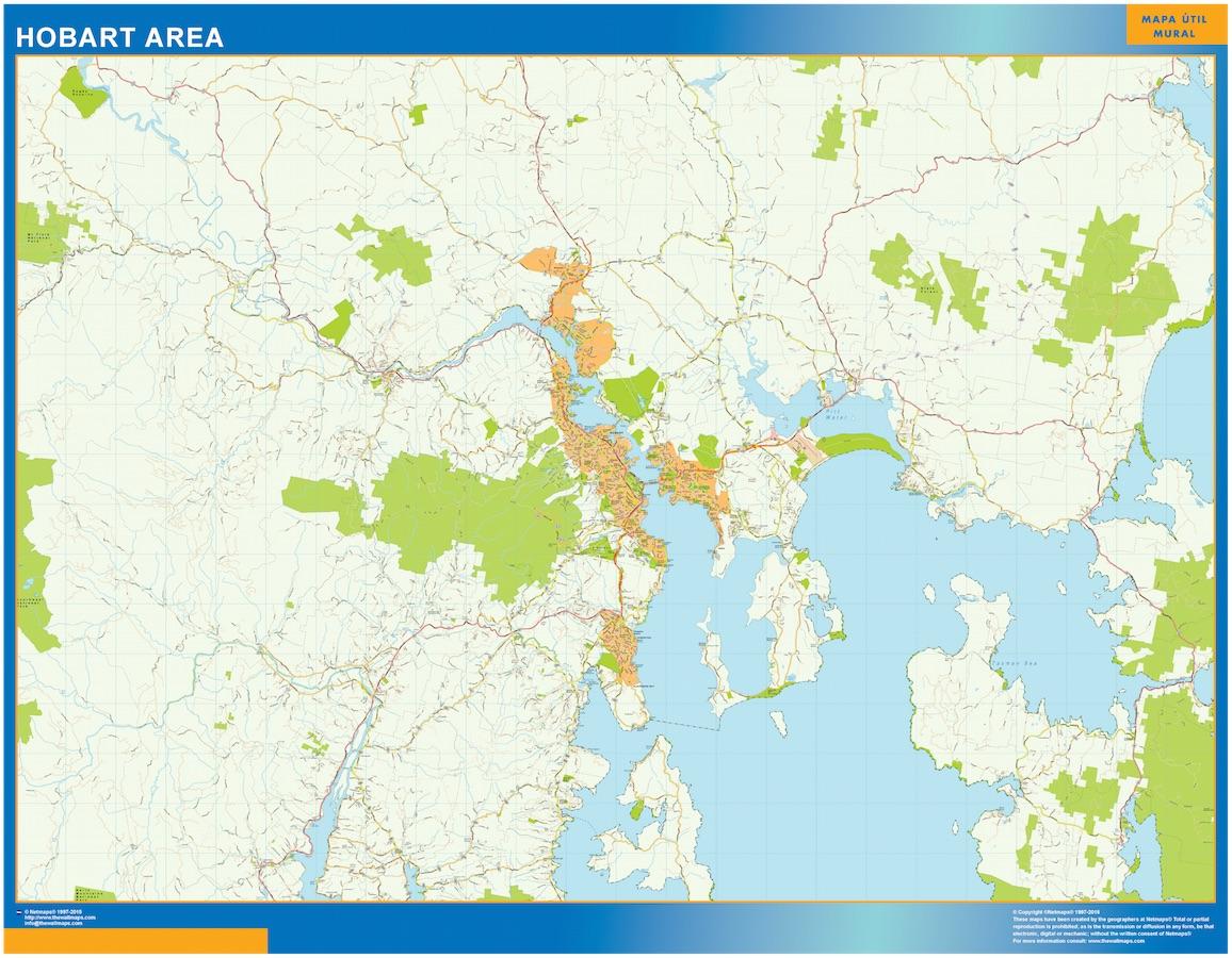 Mapa Hobart Area