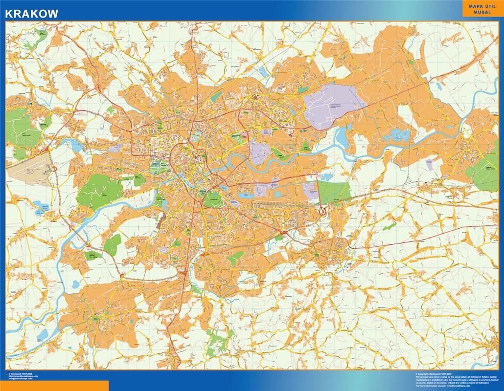 Mapa Krakow