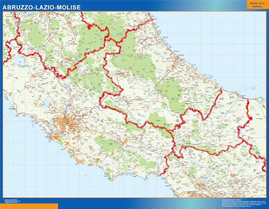 Mapa Lazio
