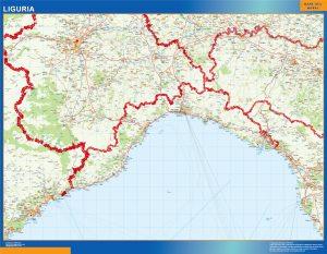 Mapa Liguria