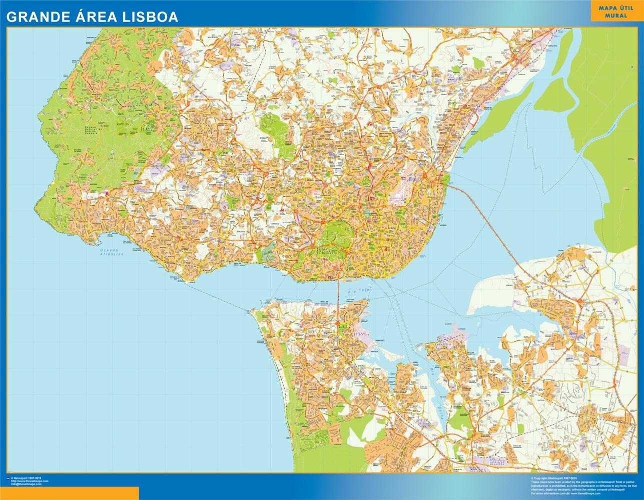 Mapa Lisboa Grande Area