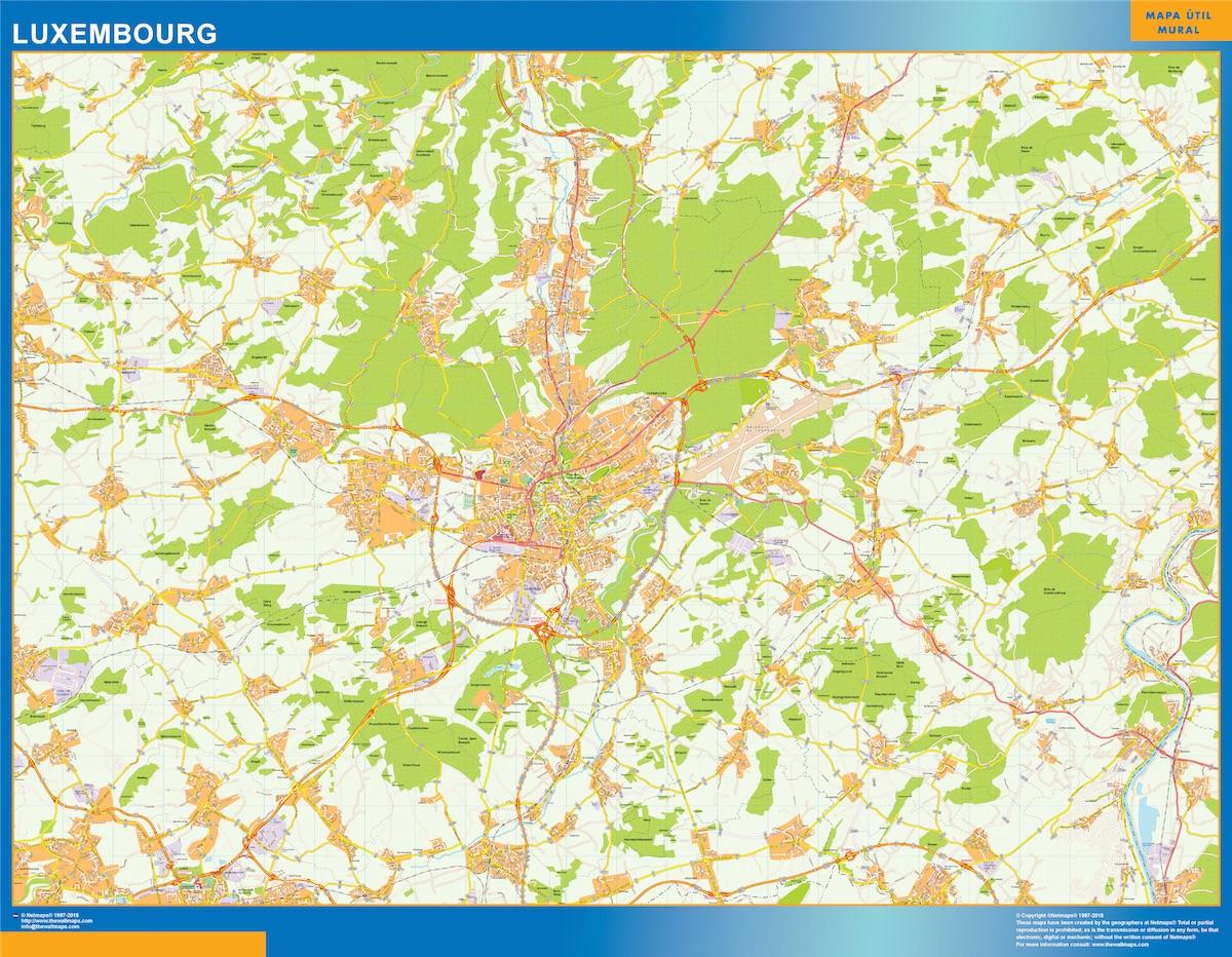 Mapa Luxemburgo
