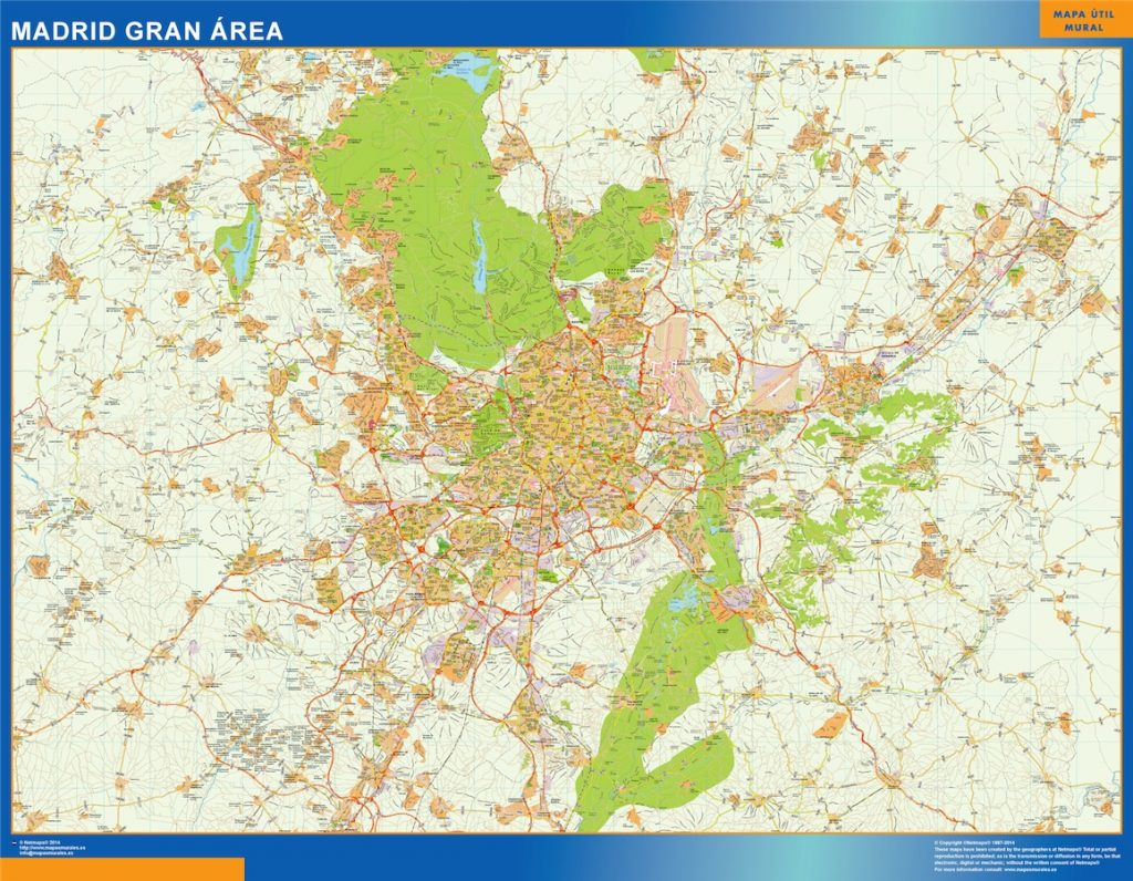 Mapa Madrid Gran Area