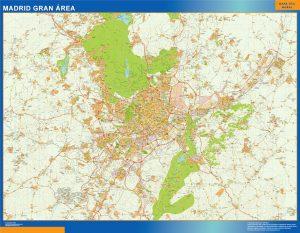 Mapa Madrid Gran Area