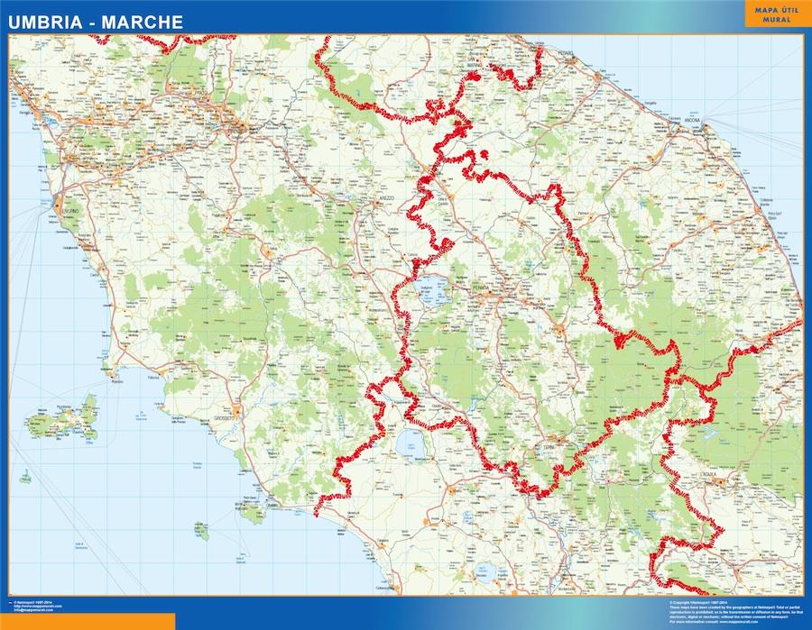Mapa Marche