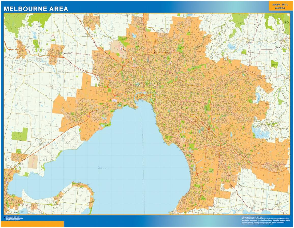 Mapa Melbourne Area