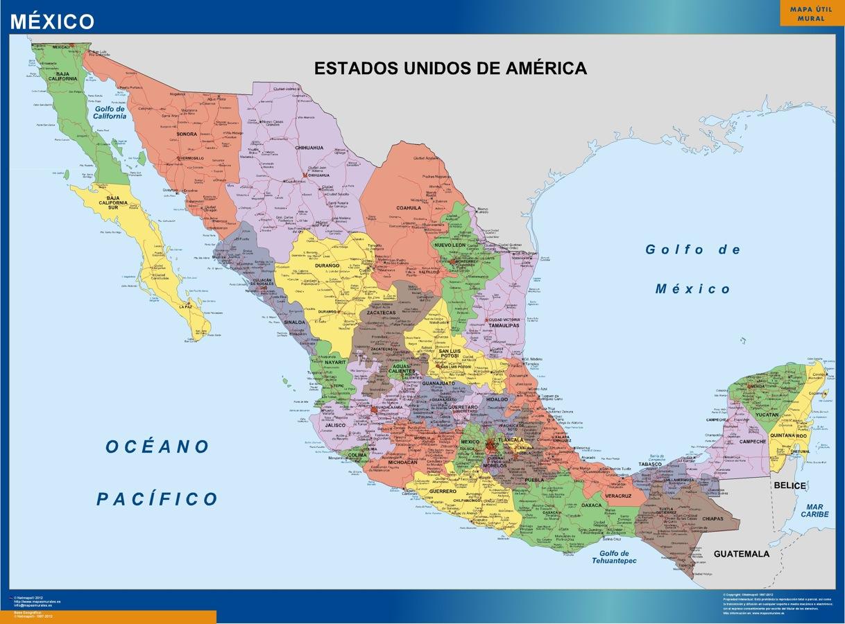 Mapa Mexico Politico