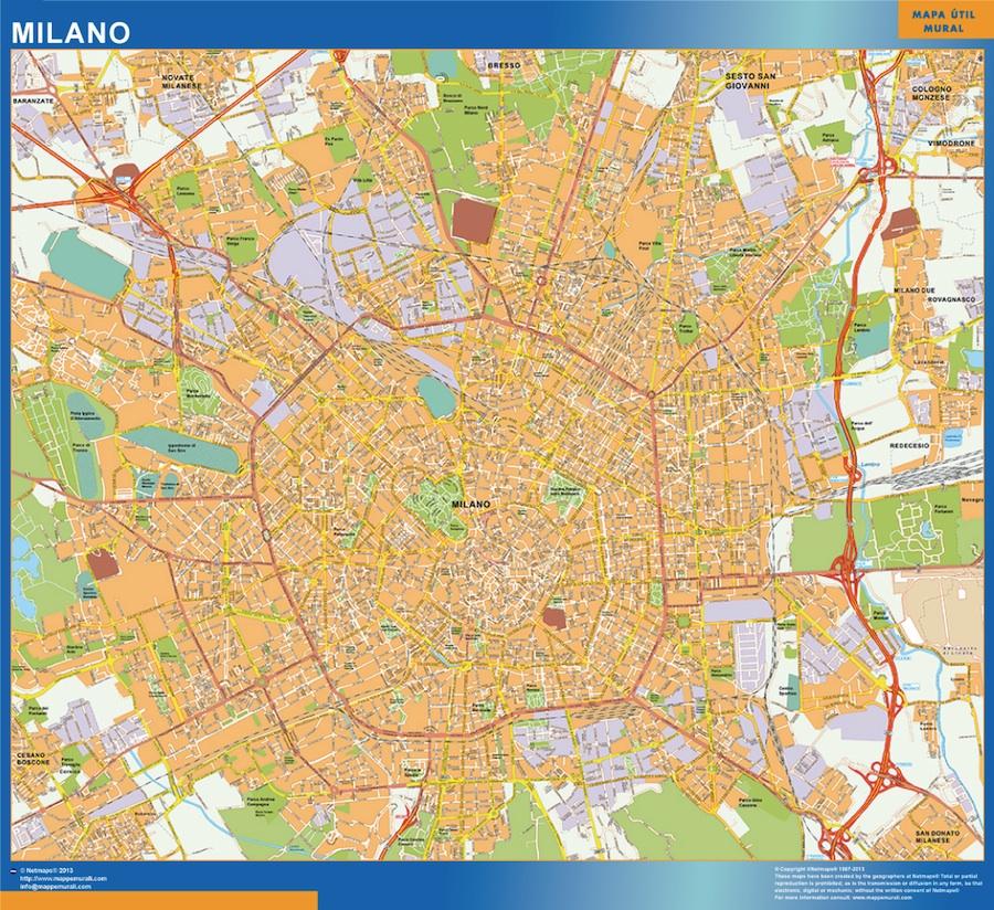 Mapa Milano