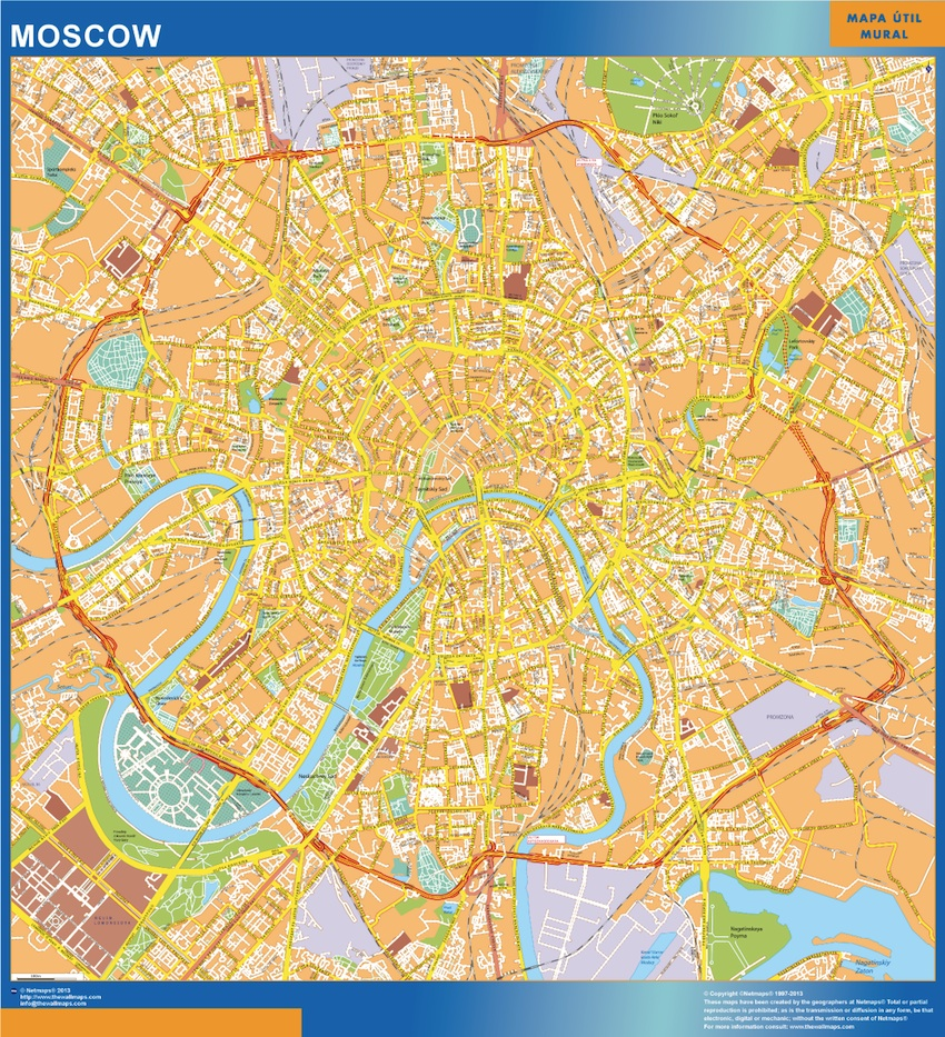 Mapa Moscu