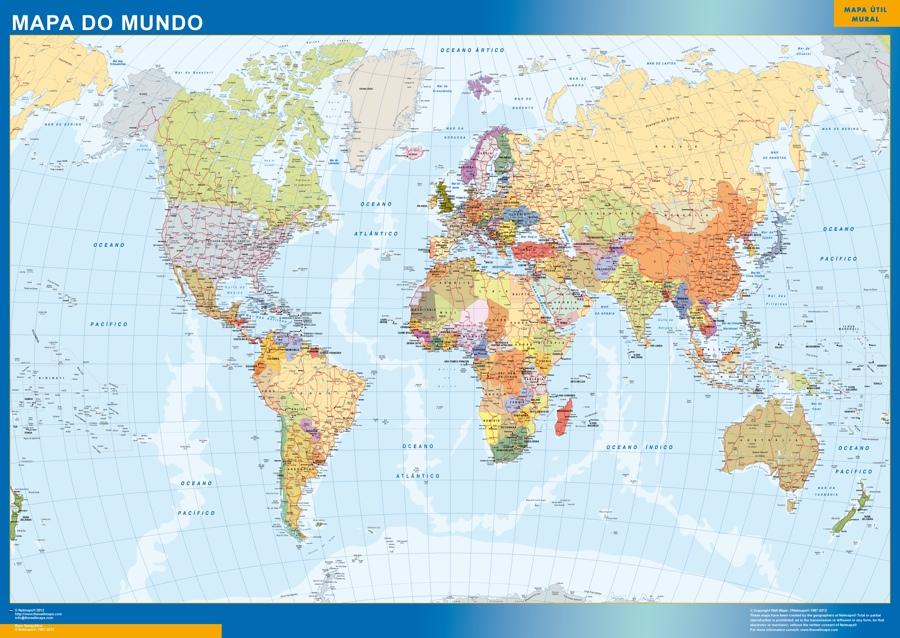 Mapa Mundo Portugues