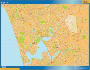 Mapa Perth