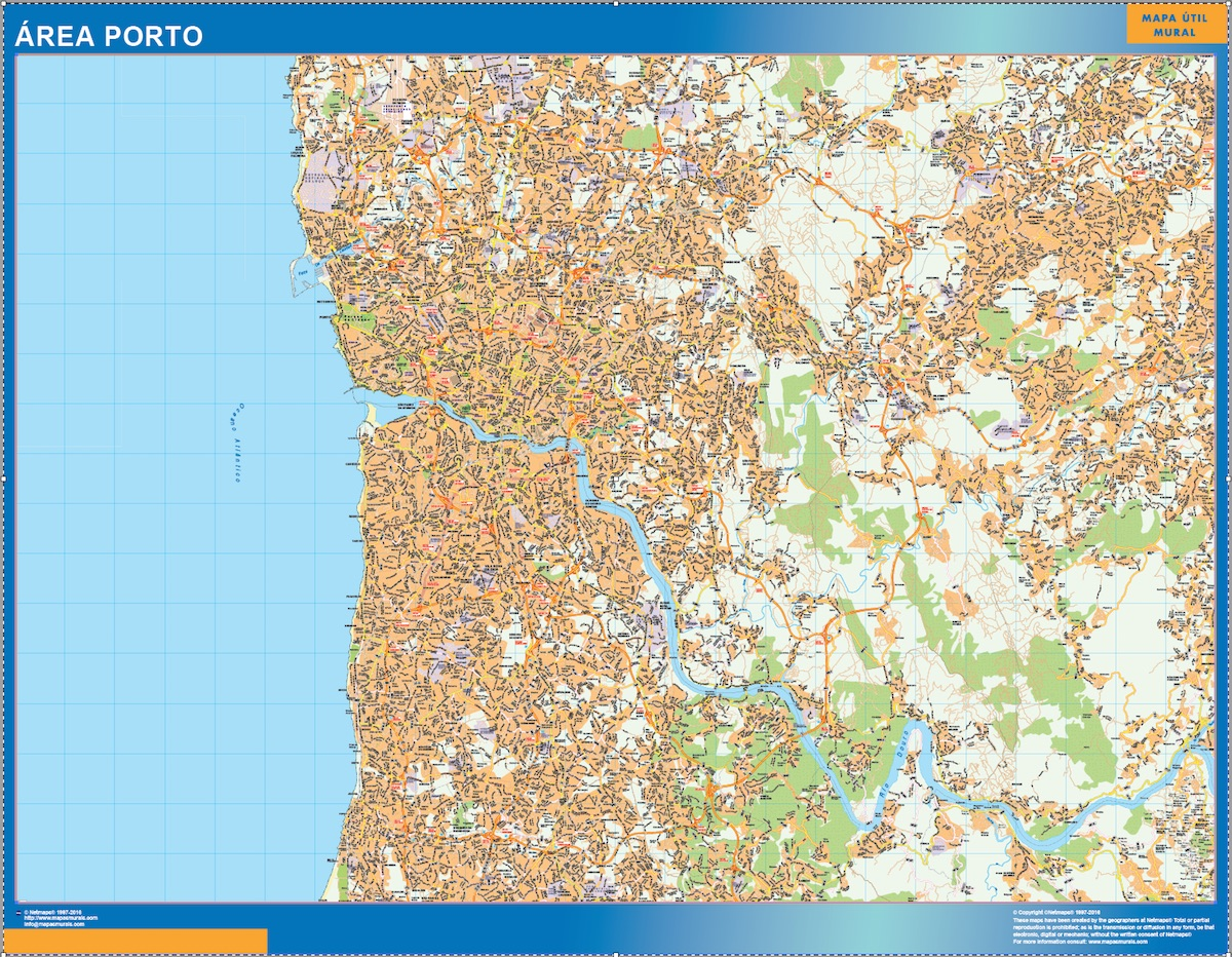 Mapa Porto Area