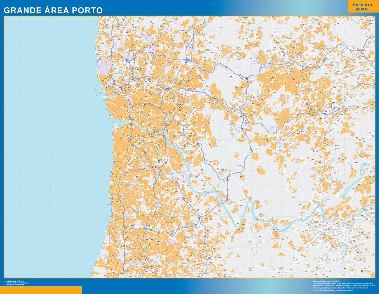 Mapa Porto Grande Area