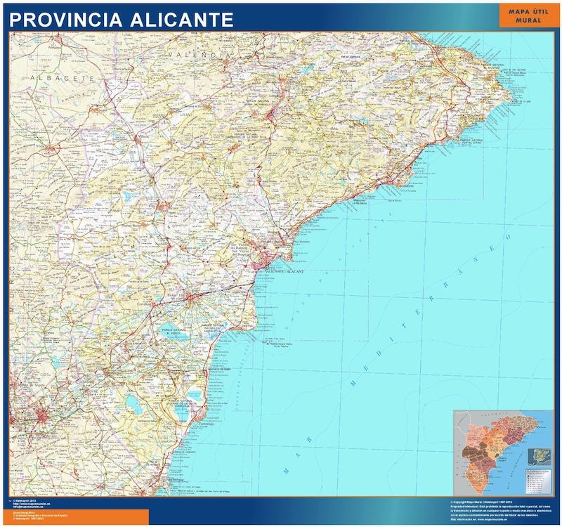 Mapa Provincia Alicante