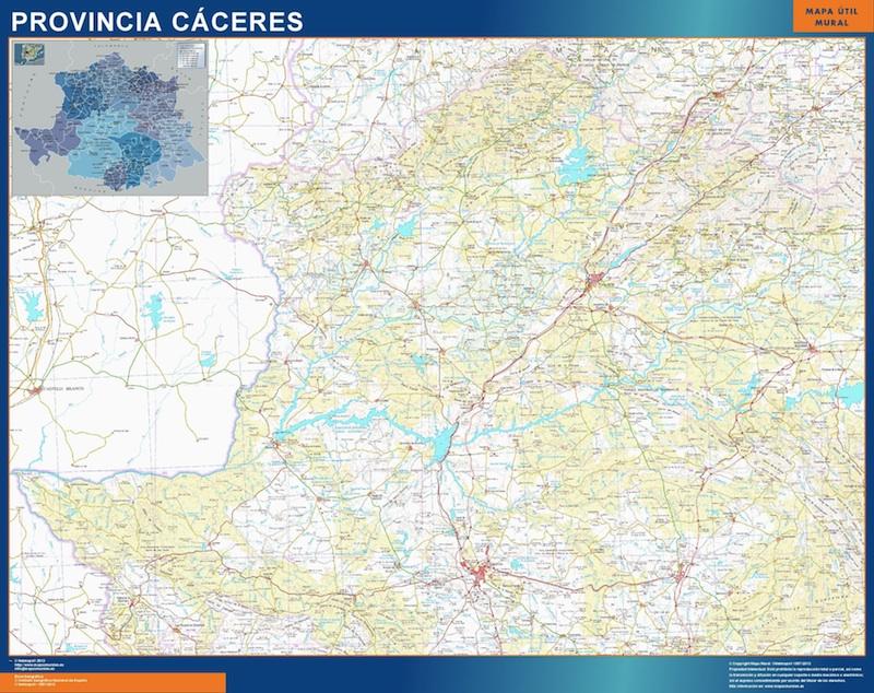 Mapa Provincia Caceres Mapas Murales De Espana Y El Mundo