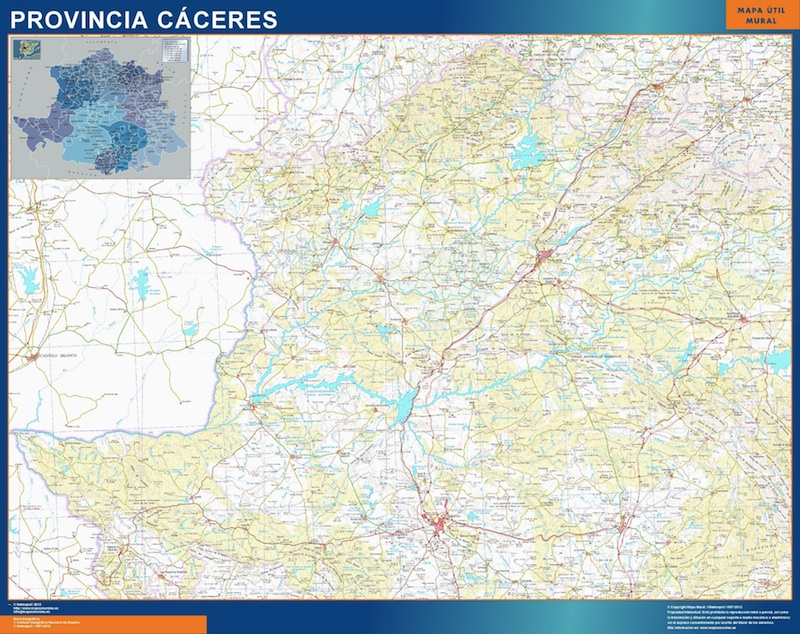 Mapa Provincia Caceres