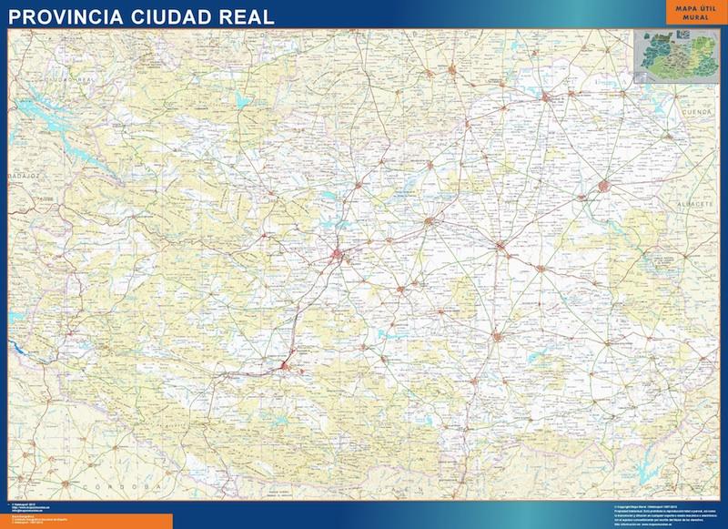 Mapa Provincia Ciudad Real