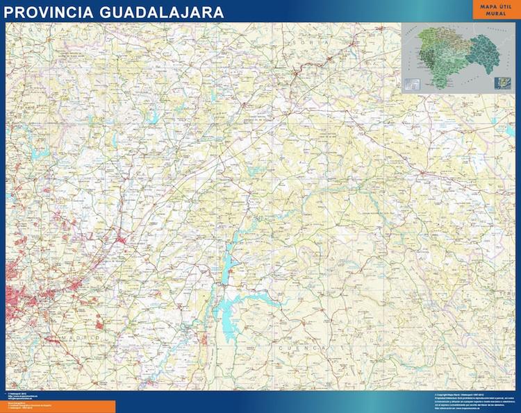 Mapa Provincia Guadalajara