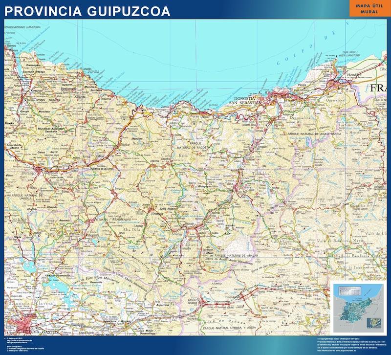 Mapa Provincia Guipuzcoa