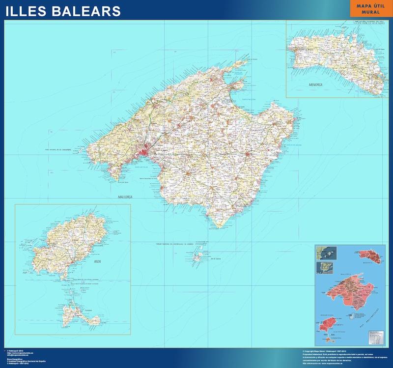 Mapa Provincia Islas Baleares
