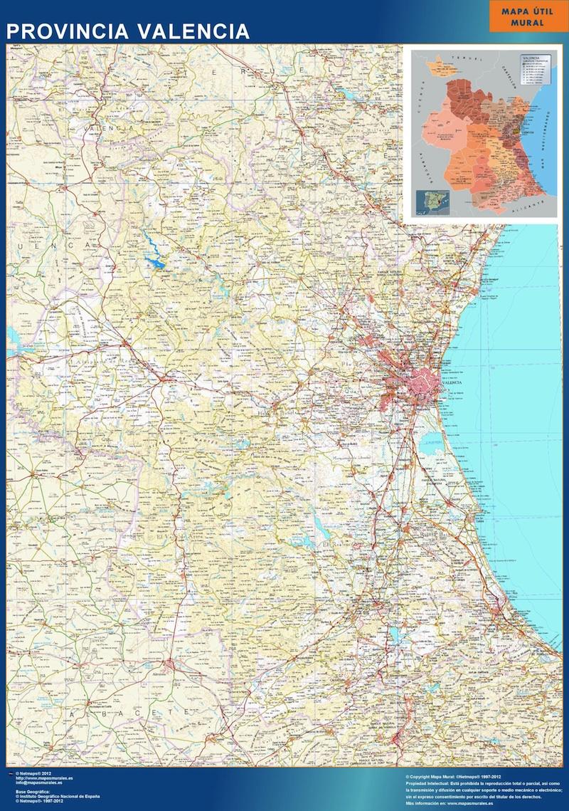 Mapa Provincia Valencia