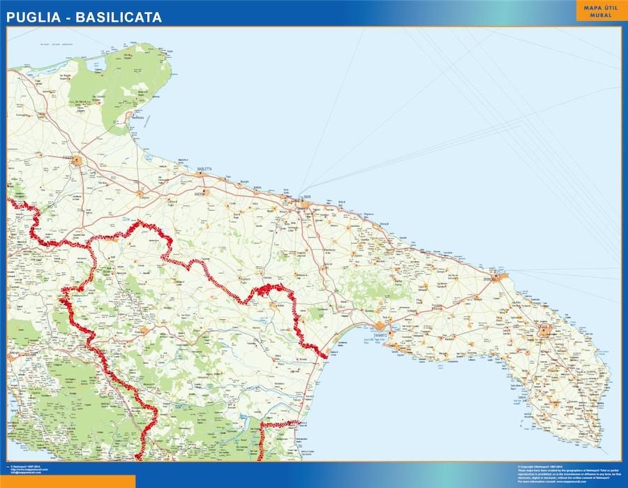 Mapa Puglia