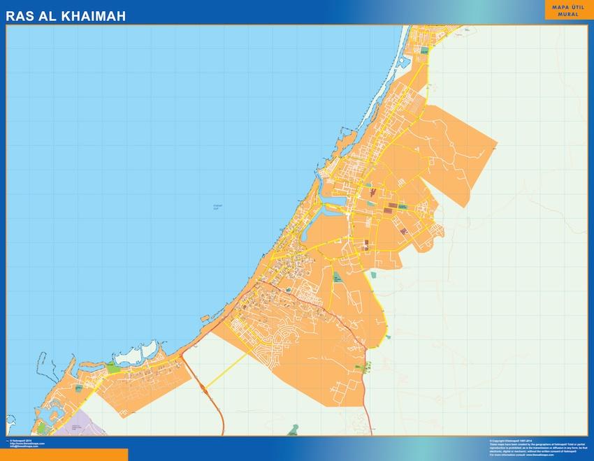 Mapa Ras Al Khaimah