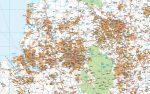Mapa Reino Unido Midlands