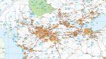 Mapa Reino Unido Norte