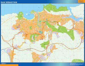 Mapa San Sebastian Donostia