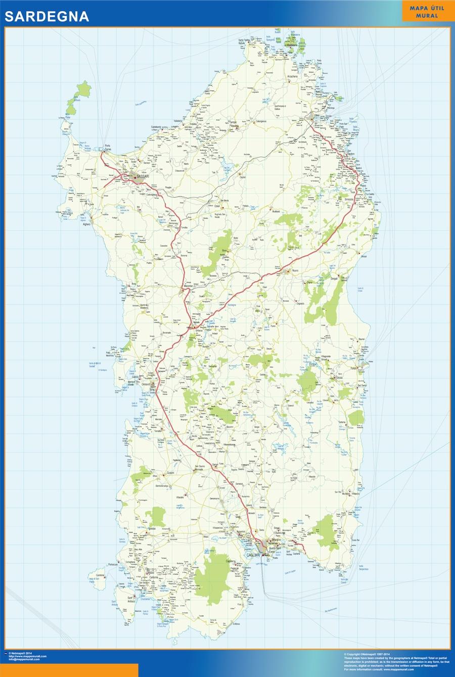 Mapa Sardegna